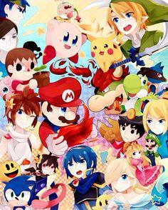Link - Zelda no Densetsu Tiana, Crossover, Super Smash Ultimate, Super Smash Bros Brawl, Wii Fit, Nintendo Sega, Kid Icarus, Samus Aran, Love Games
