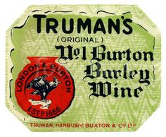Old beer label Truman Barley Wine