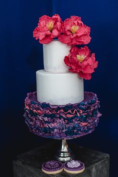 ruffles and peony Cakepops, Peony, Ruffles, Flowers, Desserts, Food, Birthday Cake Toppers, Wedding Cakes, Tailgate Desserts