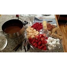 Fondue is an indulgent treat. Make it a bit healthier by opting for antioxidant-rich dark chocolate and fresh fruit.