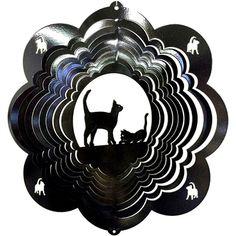 """12"""" Cat - Black Starlight Wind Spinner"""