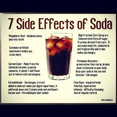 soda side effects...no matter how many times I pin stuff like this, I never give up coca cola.  :(