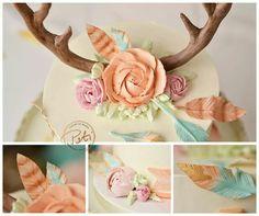 Wild One Birthday Party, Baby Girl 1st Birthday, First Birthday Cakes, First Birthday Parties, Birthday Ideas, Baby Girl Cakes, Oh Deer, Milestone Birthdays, Party Ideas
