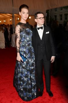 Vogue Daily — Arizona Muse in Erdem (more interested in the 3 pc suit!)