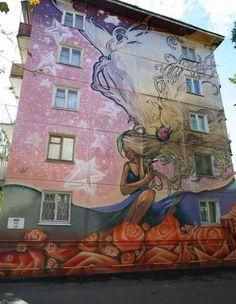 Самые офигенные граффити на стенах зданий