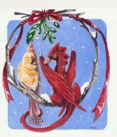 Heather Bruton Dragon Bird, Big Dragon, Dragon Heart, Fantasy Creatures, Mythical Creatures, Fantasy World, Fantasy Art, Christmas Dragon, Dragon Pictures