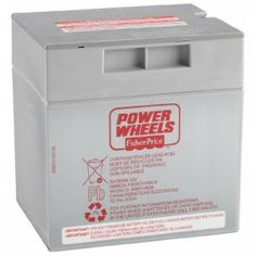 Power Wheels 12-Volt Rechargeable Battery - Tricycles, Scooters & Wagons #Kid #Kids #Toy #Toys #Christmas #Holiday #Holidays #Wish #Wishlist #Child #Children #Tricycles #Scooters #Wagons #Rides #Gift #Gifts #Present #Presents #Idea #Ideas $42.99