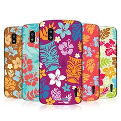 HEAD-CASE-DESIGNS-HAWAIIAN-PATTERN-CASE-COVER-FOR-LG-NEXUS-4-E960 Hawaiian Pattern, Phone, Cover, Ebay, Design, Telephone, Mobile Phones