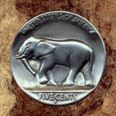 Bob Finlay - Elephant Hobo Nickel, Rhinos, Gentle Giant, Make Your Mark, Banks, Elephant, Bob, Carving, Purses