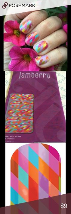 Jamberry Nails FULL SHEET Oct 2015 Hostess Exclusi FREE GIFT WITH - Sample Cards