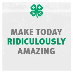 How are you making your day awesome? #4Hlife #4H