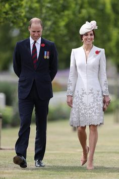 The Duke and Duchess of Cambridge visiting Commonwealth War Graves Commission Cemetery Bedford House on the outskirts of Ypres, Belgium
