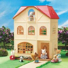 Calico Critters : The Children's Treehouse #calicocritters #playingschool #cutetoys