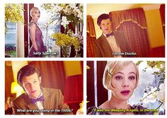 The Doctor runs into Sally Sparrow on a trip to the roaring twenties. THIS. IS. PERFECTION.