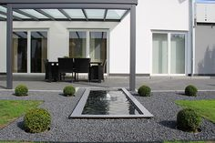 Schon Formales Teichbecken GFK Wasserbecken Rechteckig Groß Schaumfontäne  Wasserspiel Moderner Designergarten