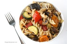 Roasted Vegetable Pasta with Garlic and Balsamic