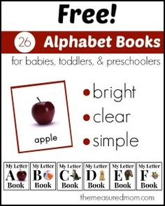free alphabet books for babies toddlers and preschoolers the measured mom 241x300 Free Printables