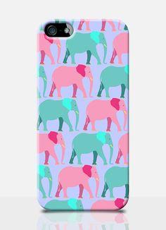 ELEPHANT pattern iPhone 5 Case animal print by TheSmallPrintCases, £10.99 #fundas #móviles #originales