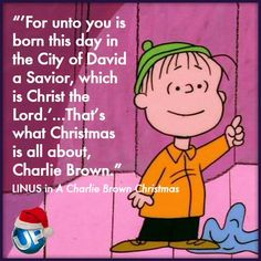 Image result for images for linus quoting luke christmas