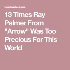 "13 Times Ray Palmer From ""Arrow"" Was Too Precious For This World"
