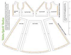 Aloha dress for Blythe from Ropa para muñecas: cositasconmesh {Need translator, crafters!}