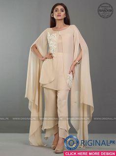 Zainab Chottani Sand Opal Glaze Eid Collection 2017 - Original Online Shopping Store Whatsapp: 00923452355358 Website: www. Stylish Dress Designs, Stylish Dresses, Casual Dresses For Women, Fashion Dresses, Dresses For Eid, Kurta Designs, Kurti Designs Party Wear, Pakistani Dresses Casual, Pakistani Dress Design