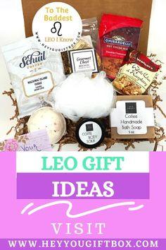 Leo Coffee, Coffee Box, Coffee Gifts, Creative Gift Baskets, Gift Baskets For Women, Diy Gift Baskets, Leo Birthday, Happy Birthday Gifts, Fudge Flavors