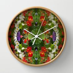 Flowers reflections on the double. Wall Clock by Robert Gipson - $30.00
