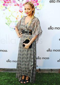 Nicole Richies Boho-Chic Style: Braided Beauty