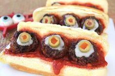Bloody eyeball sandwiches are a ghoulish meal for