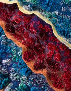 Nuno felt with velvet - JA FELT: Textiles