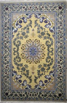 Isfahan Silk Persian Rug | Exclusive collection of rugs and tableau rugs - Treasure Gallery Isfahan Silk Persian Rug You pay: $3,400.00 Retail Price: $9,200.00 You Save: 63% ($5,800.00) Item#: 368 Category: Small(3x5-5x8) Persian Rugs Design: Center Medallion Size: 234 x 156 (cm)      7' 8 x 5' 1 (ft) Origin: Persian, Isfahan Foundation: Silk Material: Wool & Silk Weave: 100% Hand Woven Age: Brand New KPSI: 600