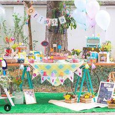 Olha que linda essa festa ao ar Livre!  Por @festinhasmanuais imagem do Ig @kikidsparty  #mae_festeira #maefesteirapicnic by mae_festeira