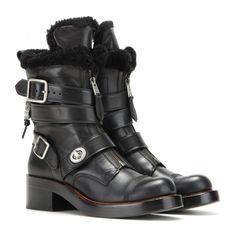 Coach - Moto shearling trim biker boots - mytheresa.com