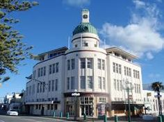 Picture of Art Deco, taken in Napier, New Zealand by traveler alfredo. Napier New Zealand, Art Deco Buildings, Empire State Building, Architecture, Places, Pictures, Travel, Image, Art Deco