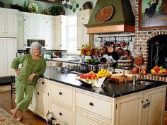 Paula Deen's kitchen via eclecticrevisited.com