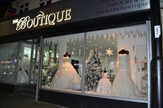 The Boutique Christmas window display 2013 www.theboutiqueuk.com