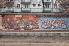 Vienna 2019 Collaboration Mots and HNRX JakobDerBruder on the right Mural Painting, Mural Art, Social Art, Douro, Vienna, Collaboration, Art Projects, Graffiti, Street Art