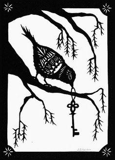 ... Bird Key - Paper Cutting | by ruralpearl
