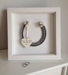 lucky in love  personalised wedding horseshoe by loveRosyLu
