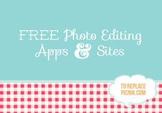 #FREE #Photo editing to replace picnik.com #craft
