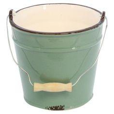 Gisela Graham Ceramic Enamelware Pail Bucket
