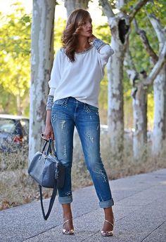 Blusa blanca con espalda abierta http://www.elblogdesilvia.com/2014/09/MFSHOW-FashionWeek-Madrid-BlogdeModa.html