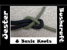 Bushcraft - Learning 8 Basic Knots - YouTube