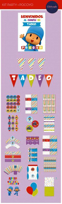 Kit imprimible Pocoyo - Celebrando Fiestas