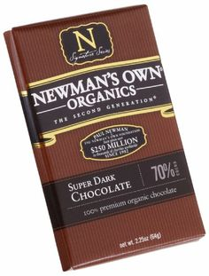 Newman's Own Organics Organic Premium Chocolate Bar, Super Dark 70% Cocoa, 2.25-Ounce Bars (Pack of 12) - http://bestchocolateshop.com/newmans-own-organics-organic-premium-chocolate-bar-super-dark-70-cocoa-2-25-ounce-bars-pack-of-12/