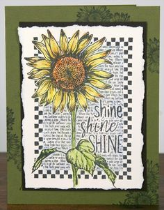 Sunflowers Stamping - Club Scrap | Sunflowers Jumbo UM stamp sheet