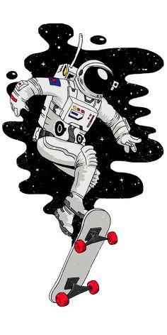 15 ideas for wall paper iphone cartoon illustration phone wallpapers Ps Wallpaper, Wallpaper Space, Wallpaper Ideas, Skateboard Deck Art, Skateboard Design, Home Bild, Astronaut Drawing, Astronaut Wallpaper, Iphone Cartoon