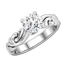 Love this ArtCarved Mounting Ring - platinum with unique design - http://www.mybridalring.com/Rings/round-shape-engagement-mounting/