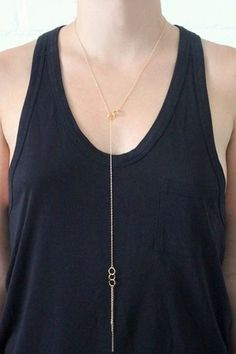 Gorjana Infinity II Lariat Necklace in Gold - $87.00